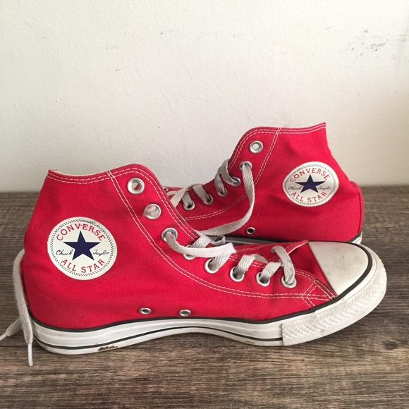 50c5d135c6b7 Converse Shoes | Red Chuck Taylor High Tops Size 9 | Poshmark